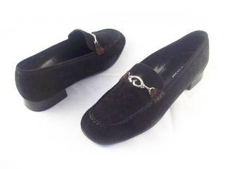 Size 10, New $100 VANELI #Livia BLACK SUEDE Buckle Medium Heel Woman