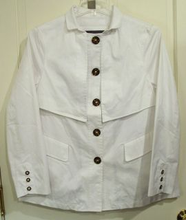 Liz Claiborne Ladies White Coat Jacket Medium New