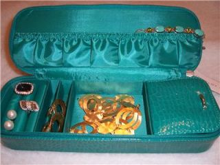 Liz Claiborne Jewelry Travel Case Organizer Storage Carribbean Teal