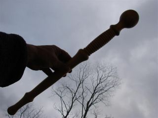 Mace Scepter Staff Gavel Trophy Wand Ceremonial Locust Tree Custom Art