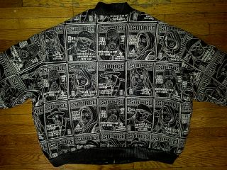 Al Wissam Source Hip Hop Tribute 2Pac Biggie Pun Black Leather Jacket