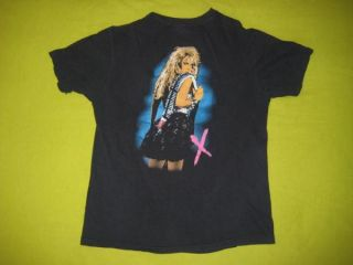 1988 Lita Ford Vtg Promo T Shirt The Runaways Tour 80s