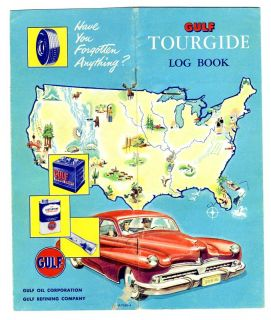 Gulf Oil Corporation Tourgide Log Book 1950S