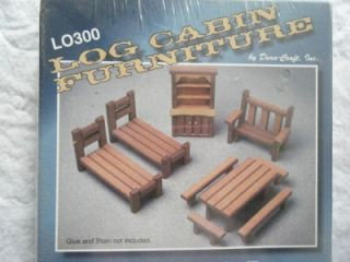 Doll House Furniture Kit for Rustic Log Cabin LO300 Dura Craft Pre Cut