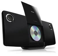 Philips CD Player Stereo iPhone iPod Dock System FM Radio USB Wall