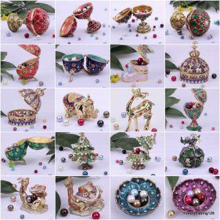 Jewelry Jewellery Enamel Trinket Ring Gift Charm Box Jewel Case