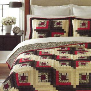 Martha Stewart Log Cabin Reversible Full Queen Quilt