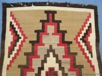 Antique Early Large Native American Indian Navajo Rug Circa 1910