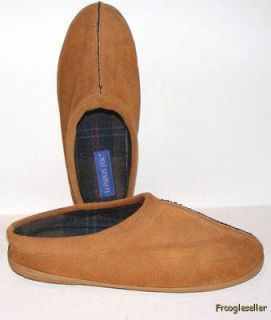 London Fog Mens Slippers Mules Shoes 12 M Brown Fabric