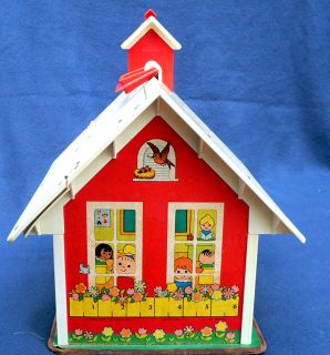 Vintage Fisher Price Little People School House 923
