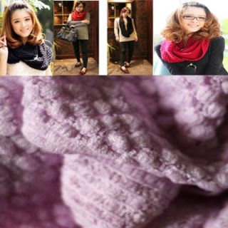 Girls Lovely Knitting Wool Bubble Corn Dot Circle Scarf Neckerchief
