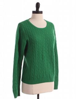 Crew Solid Green Long Sleeve Sweater Top Shirt