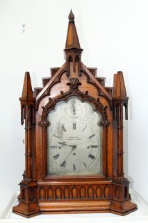 Gothic Fusee Bracket Clock Webster Cornhill London