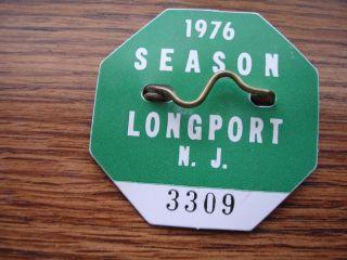 Original 1976 Longport Beach New Jersey Beach Tag Badge