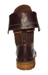 Frye Womens Boots Owen Lace Up Dark Brown Oiled Suede 76721 Sz 7 5 M