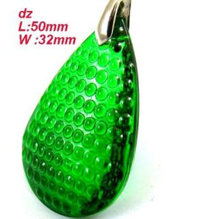 C8245 Lively Green Crystal Teardrop Bead Bail Pendant Necklace Fashion