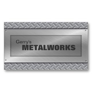 Sheet Metal Trade Business Card   Black & Silver