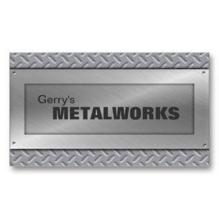 Sheet Metal Trade Business Card   Black & Silver