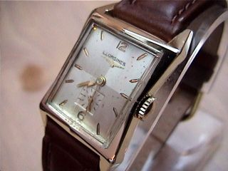 14k Solid Gold Vintage Longines Wrist Watch 1950s 9LT Model 30gr