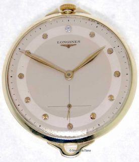 Longines Pocketwatch 14k Yellow Gold Diamond Dial