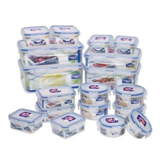 Lock & Lock 36 Piece BPA Free 18 Airtight Food Storage Containers New