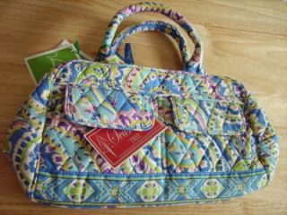 Vera Bradley Lola Capri Blue Purse Small Bowler Retired Mint