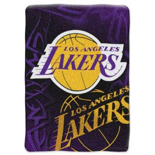Los Angeles Lakers NBA 60 x 80 Fierce Series Royal Plush Raschel