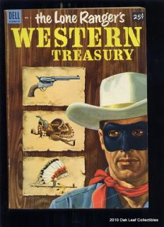 Lone Rangers Western Treasury Dell Giant 1 Comic 1953