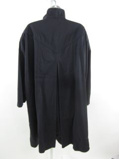 Louis Feraud Black Trench Coat Jacket Sz 6