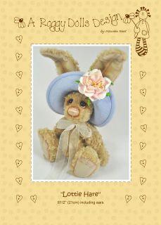 Lottie Hare Sewing Craft Pattern Artist Bear Pattern