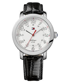 Tommy Hilfiger Watch, Womens Black Leather Strap 38mm 1781218   All