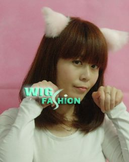 Lolita Sweet White Black Leopard Hair Clip Anime Cosplay Cat Ears