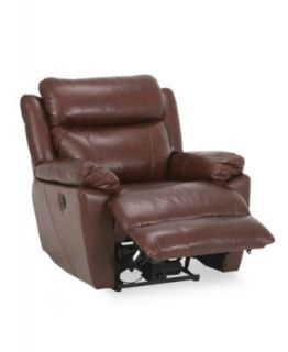 with Vinyl Sides & Back Power Recliner Chair, 39W x 40D x 40H