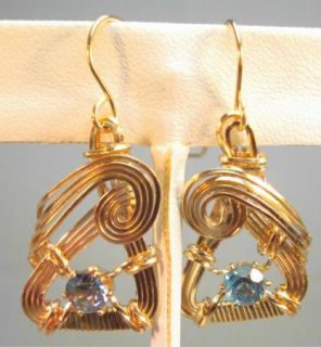 London Blue Topaz Gold Filled Rolled Gold Earrings 461