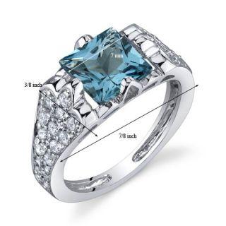 Elegant Opulence 1 75 cts London Blue Topaz Ring Sterling Silver Size