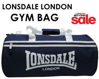 Lonsdale London Large Blue Barrel Shaped Gym Sports Weekend Bag