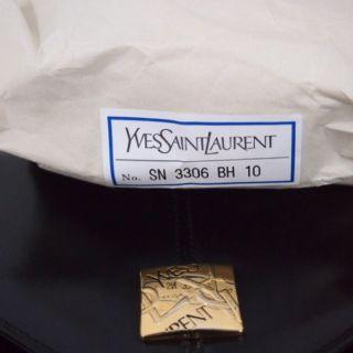 Vintage Yves Saint Laurent YSL Single Handle Huge Stitched Logo