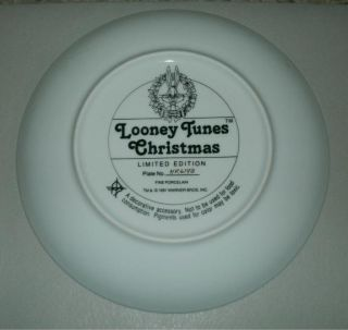 Looney Tunes Merry Christmas Porcelain Collector Plate HR6143 1991