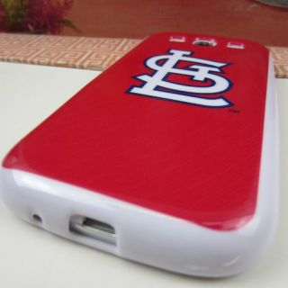 St. Louis Cardinals Red Silicone Rubber Skin Cover Case Samsung Galaxy