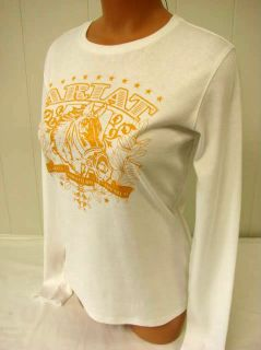 Ariat Western Long Sleeve Horse Graphic Tee Glitter White 04