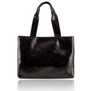 Love Moschino Medium Shopping Bag Glossy with Logo New Collection Best
