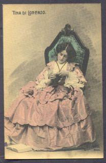 Tina Di Lorenzo Italian Actress Vintage Postcard