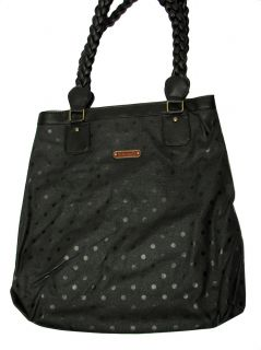 Loungefly Sugar Skulls Polka Dot Tote Handbag Black