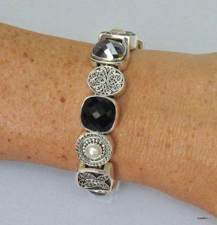 Sterling Silver Gemstone Lori Bonn Charm Bracelet Uptown Girl