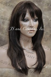 Lovely Long Straight Face FRAMING Wig Brown Blonde Mix