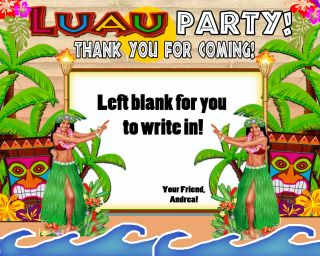 Luau Birthday Party Ticket Invitations VIP Pass Favors U Print