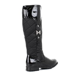 Women Quilted Knee High Flat Riding Country Style Boots Size US 5 10