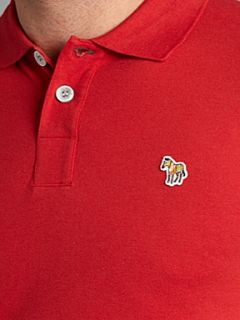 Paul Smith Jeans Zebra logo regular fit polo Red