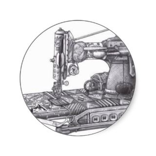 Vintage Sewing Machine Stickers