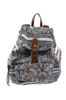 Lucky Brand Palisades Blue Printed Organizer Backpack BHFO